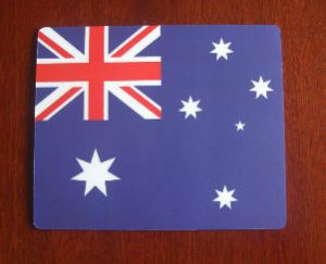 Australia Country Flag Hardtop Mouse Mat / Pad.